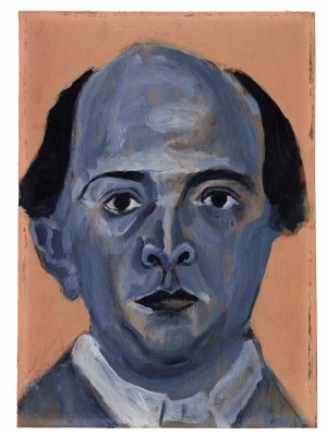 Blue self-portrait by Arnold Schoenberg, 1910